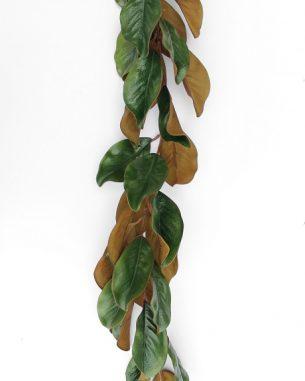 Artificial magnolia garland