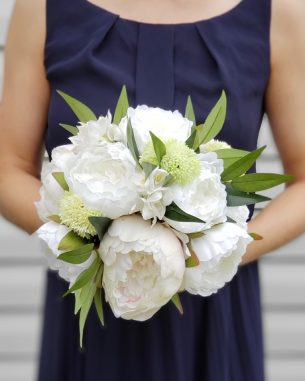 Artificial white peony bouquet from the Nottingham Collection