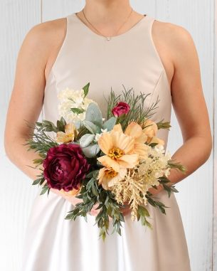 Artificial wildflower bridesmaid bouquet - Oslo Collection