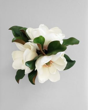 Artificial magnolia bouquet from the Savannah Collection
