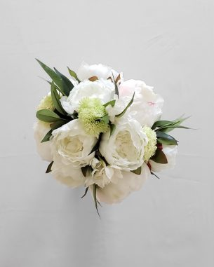 White peony centerpiece from the Nottingham Collection
