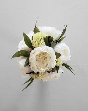 Artificial peony white centerpiece from the Nottingham Collection