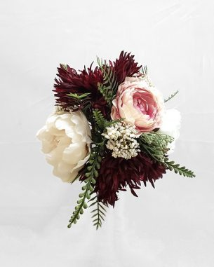 Chrysanthemum and rose centerpiece from the Brooklyn Collection