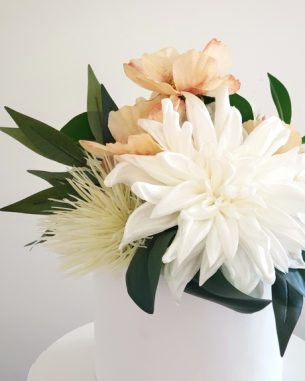 Ivory dahlia cake topper from the Sydney Collection