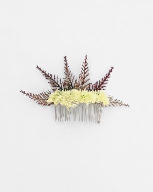 Faux juniper and yarrow hair comb from the Santiago Collection