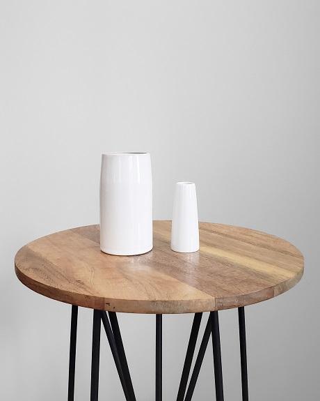 Basic small and large white vase