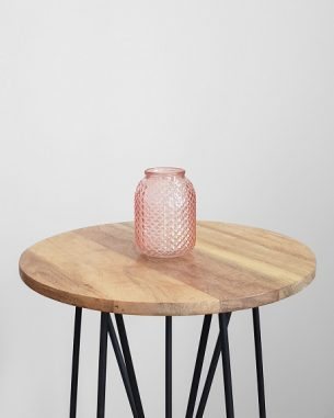 Small pink crystal vase for rent