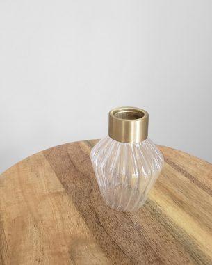 Gold art deco vase for rent