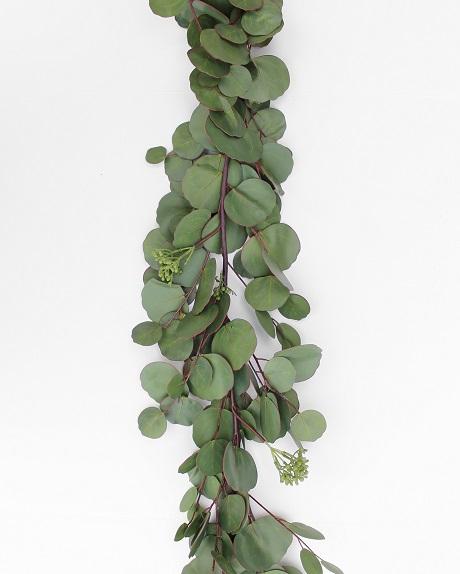 Fake eucalyptus garland with silver dollar eucalyptus