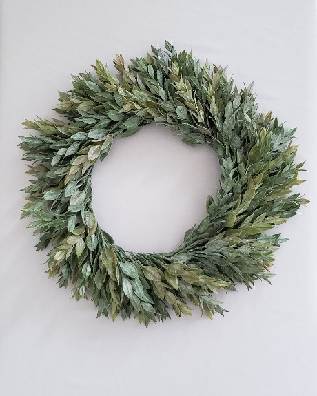Artificial ruscus wreath
