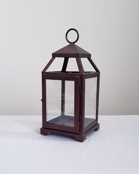 Bronze lantern for wedding centerpieces